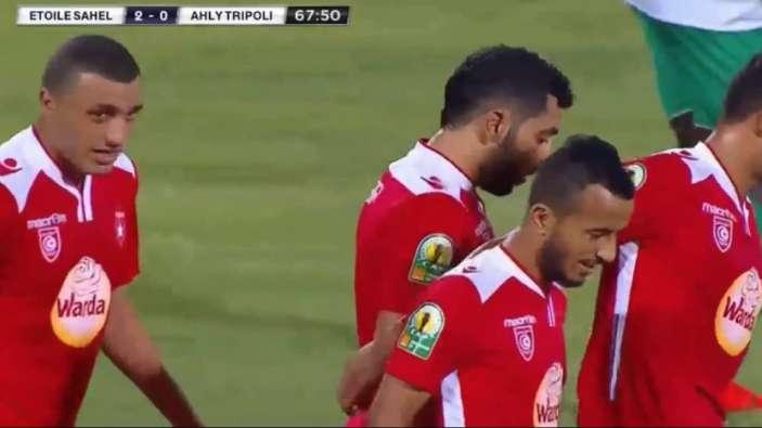 اهداف مباراة النجم الساحلى و اهلى طرابلس 3-0